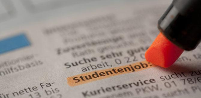 Die 10 beliebtesten Studentenjobs