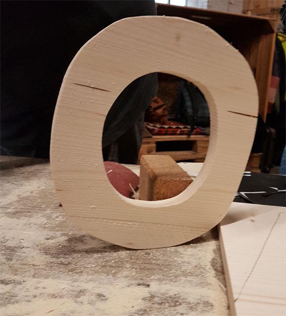 Holzbuchstaben DIY herstellen