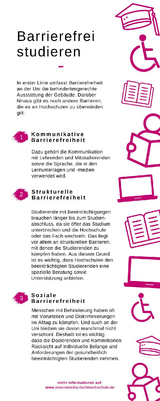 Infografik barrierefrei studieren